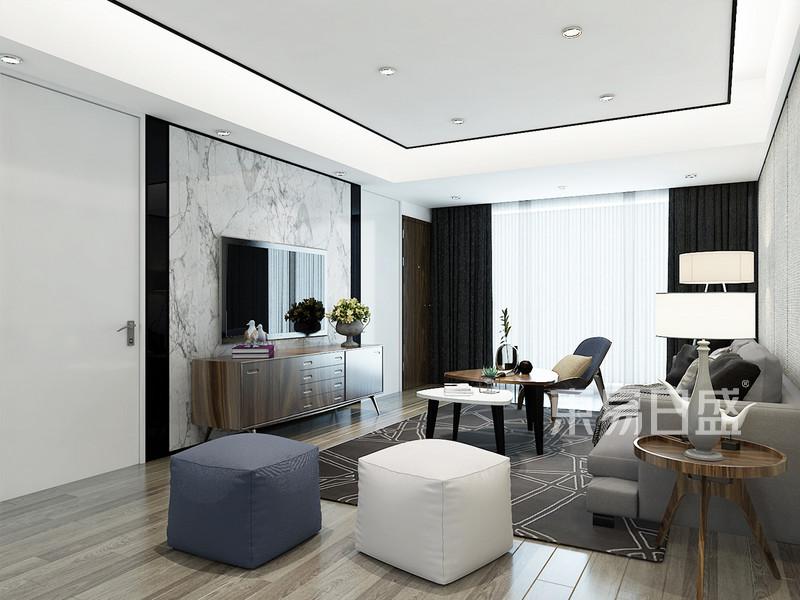现代简约风格 客厅 营造出现代化空间