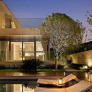 现代简约风格 庭院装修效果图 别墅