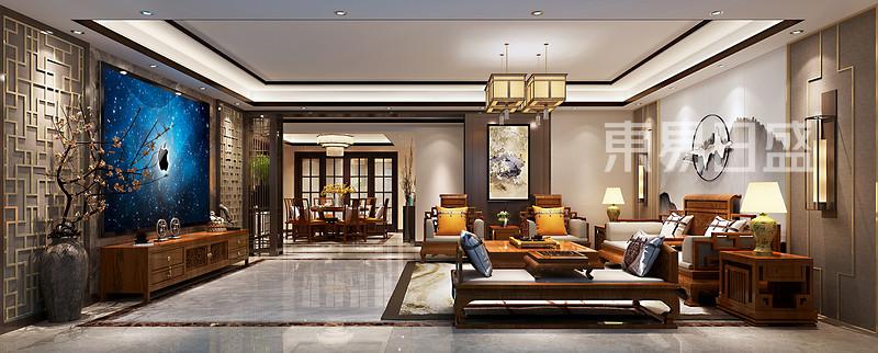 古典中式客厅装修效果图