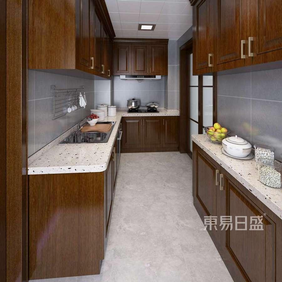 华茂欣园-中式风格-厨房装修效果图