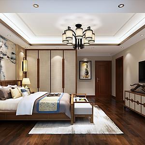 佛山万科水晶城228㎡现代中式公寓装修效果图