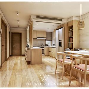 城厢公馆日式风格一层厨房装修效果图