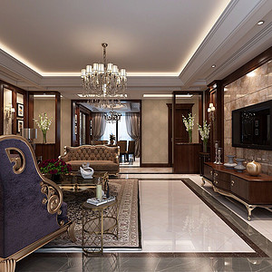 皇家花园美式风格客厅