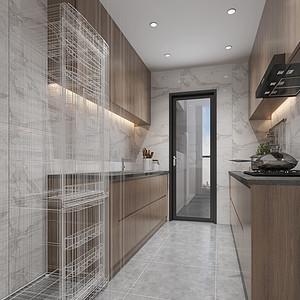 大康福盈门-现代简约-厨房装修效果图