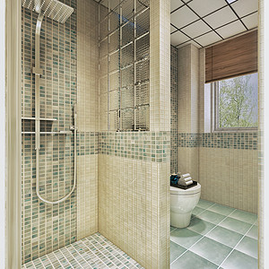 城厢公馆日式风格一层卫生间装修效果图