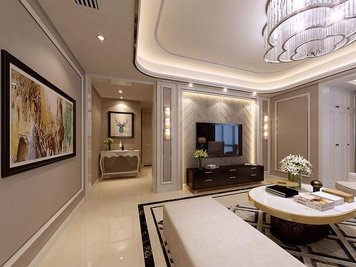 龙湖晶蓝半岛138㎡三居室现代简美轻奢风格