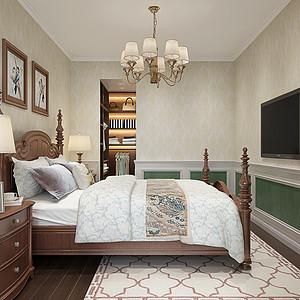 壹号公馆-美式风格-卧室装修效果图