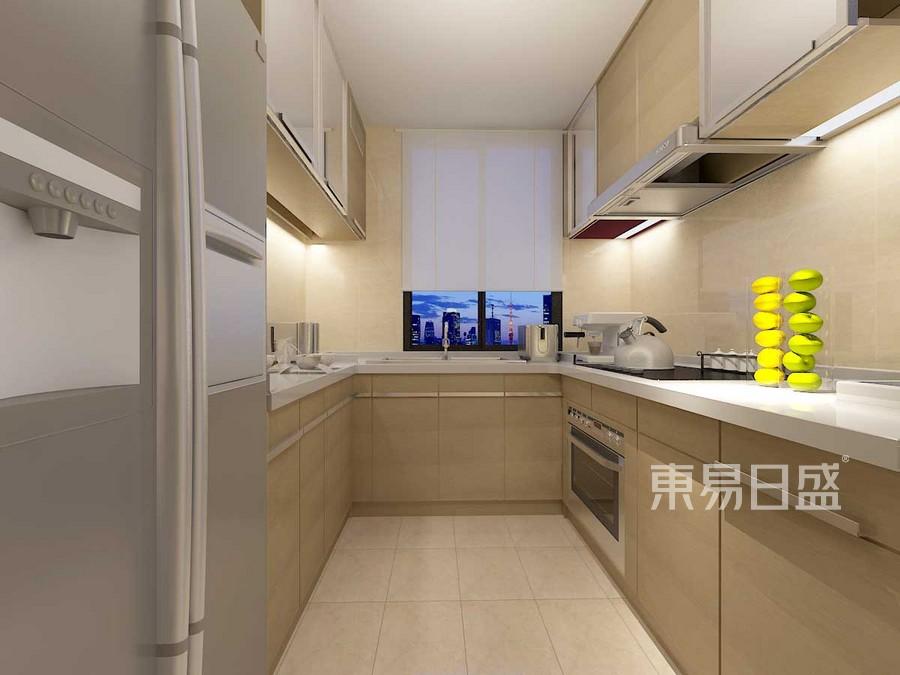 中海河山郡简约美式风格厨房装修案例效果图