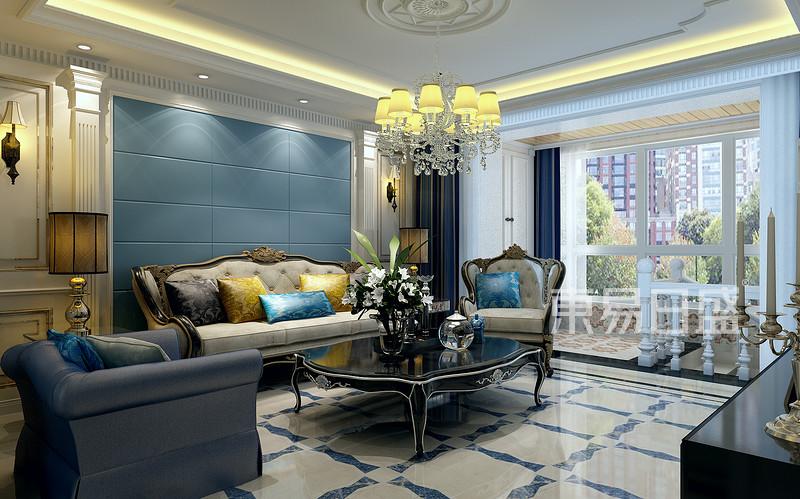 欧式风格-客厅-装修效果图