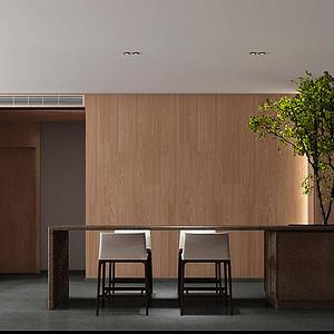 心泽园现代东方风格餐厅装修效果图