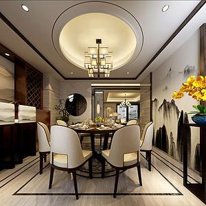第六都200平新中式风格餐厅