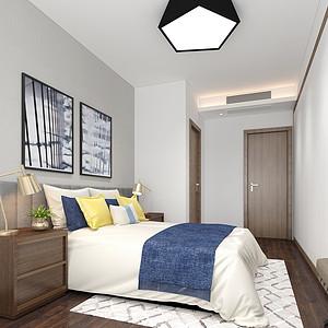 大康福盈门-现代简约-卧室装修效果图