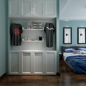 美式风格男孩房融入了更多现代元素