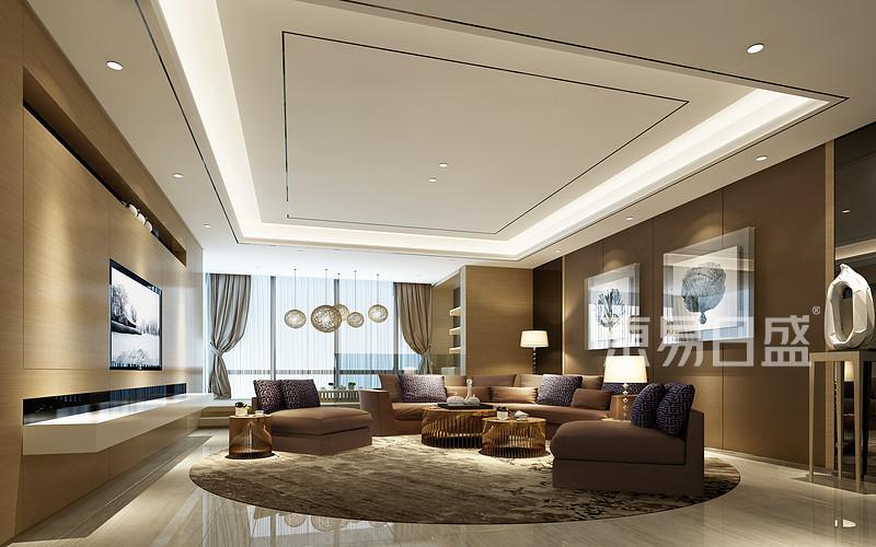 锦绣山河观园现代简约风格客厅