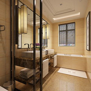 玲珑别墅现代风格卫生间装修效果图
