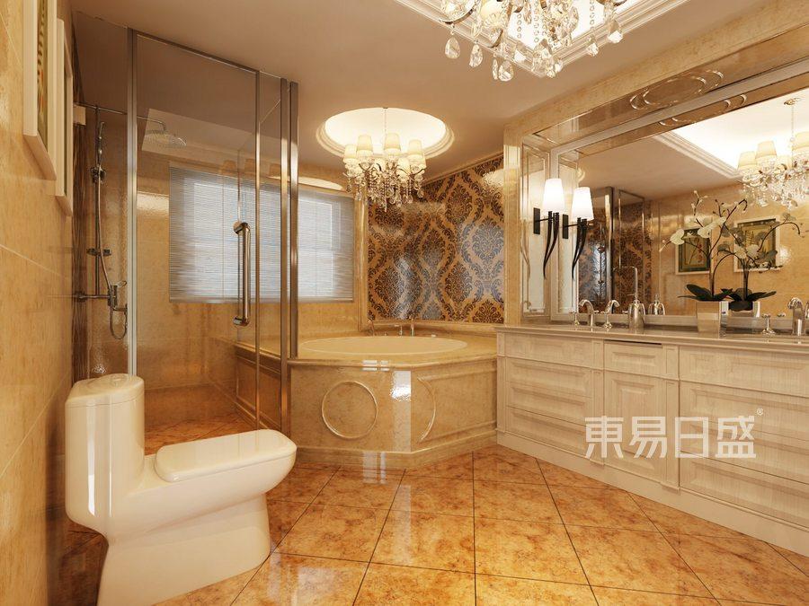 华侨城新古典风格卫生间装修案例效果图