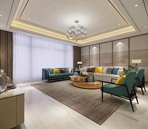 新中式装修风格客厅效果图