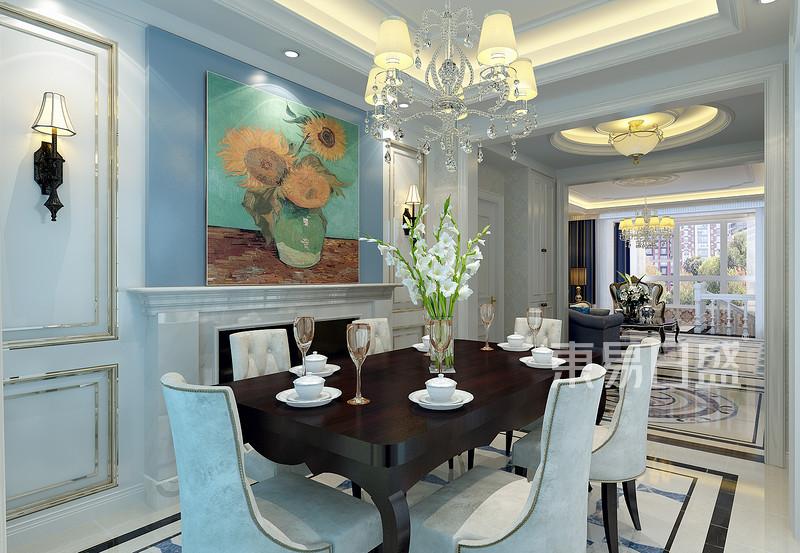 欧式风格-餐厅-装修效果图