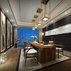 北辰定江洋285平轻奢风格茶室