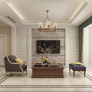 如园166平四室二厅简欧风格装修案例