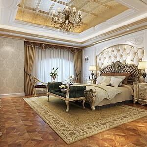 蓝光名士欧式风格卧室