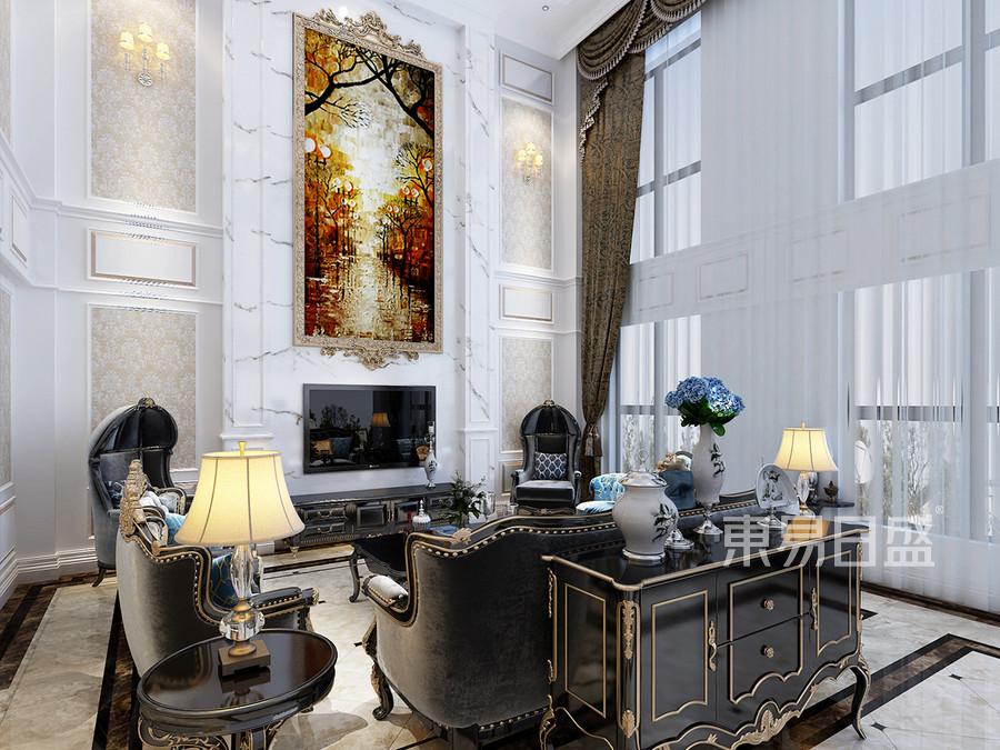 法式风格 客厅 豪华舒适