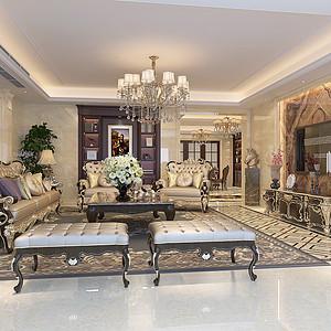 曼哈顿欧式风格客厅