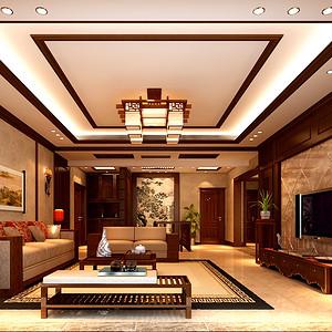 观澜国际底跃280平米中式风格设计