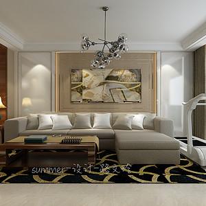 现代风格-客厅-装修效果图