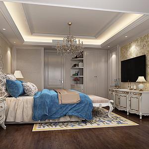 海月花园-简欧风格-卧室装修效果图