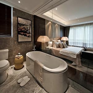 金地琥悦四房二厅新中式卫生间效果图