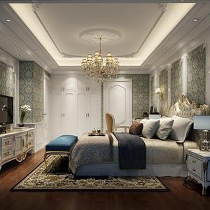 简欧风格 卧室装修效果图 三室两厅