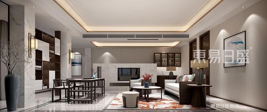 二层客厅 橘色的饰样地毯,与红色的花给空间带来一份温暖。