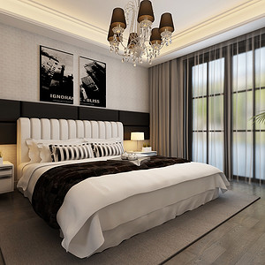 现代前卫卧室简约优雅
