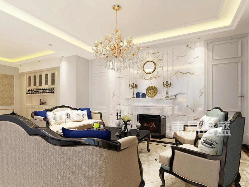 法式风格 客厅 贵族风格,高贵典雅。