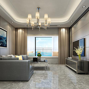 现代简约 客厅装修效果图 小户型