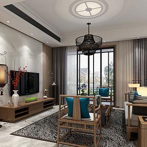 龙湖原著166㎡上叠别墅新中式风格