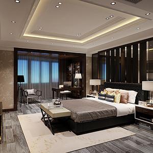 鸿基花苑580平别墅新古典风格设计装修效果图