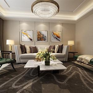 现代风格-客厅沙发背景墙