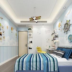 现代简约 儿童房装修效果图 小户型