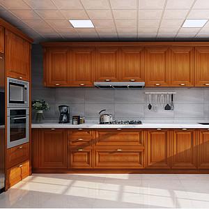 大朗碧桂园五房中式古典厨房装修效果图