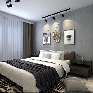 碧桂园220平米美式风格卧室装修案例
