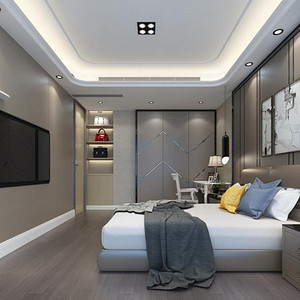 现代简约 主卧室装修效果图 小户型