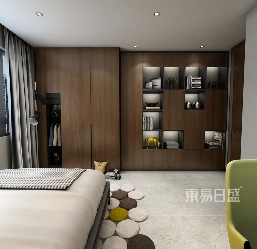 广电天韵现代轻奢风格卧室装修设计效果图_2019装修