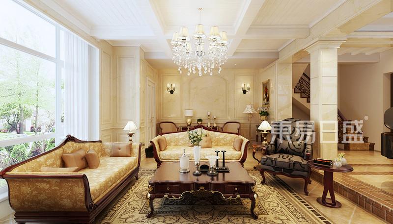 客厅美式装修效果图