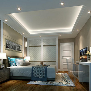现代卧室客厅装修效果图3-现代简约卧室装修效果图 现代简约卧室装修