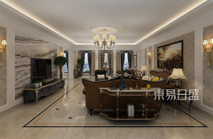 万国城MOMA330平米美式客厅装修效果图欣赏