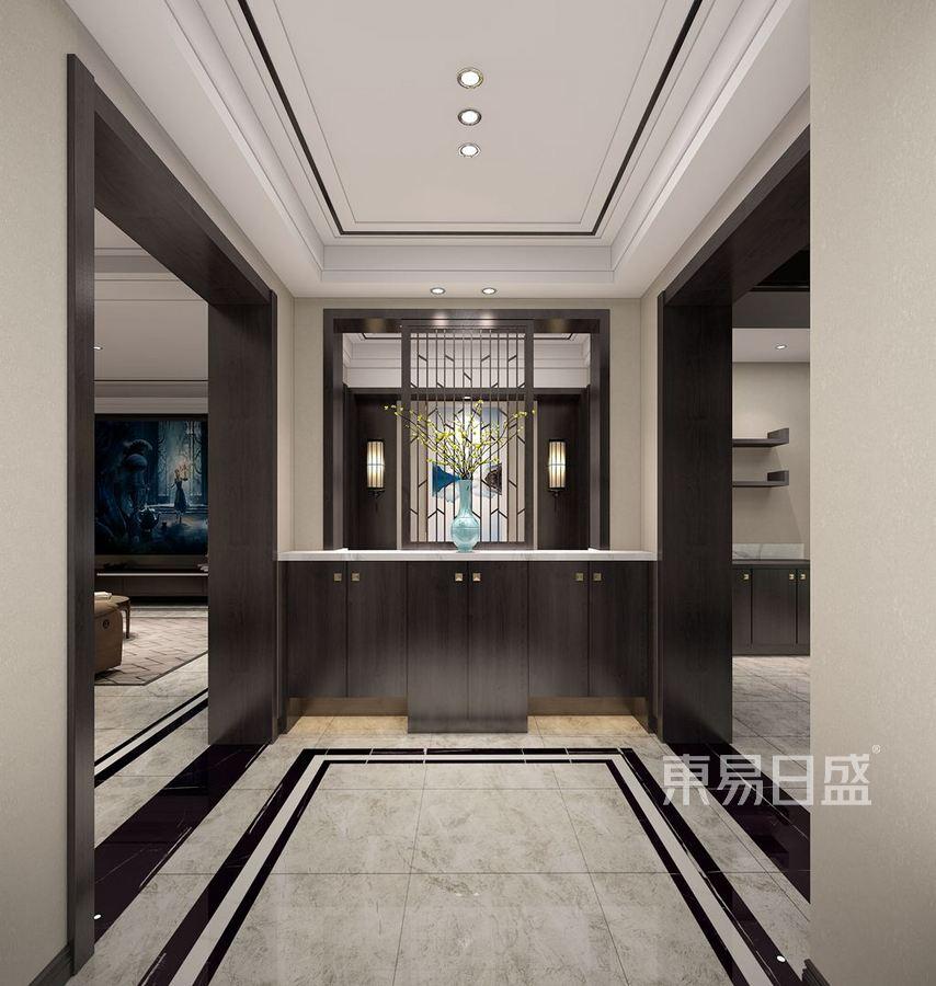 九台别墅现代中式装修效果图