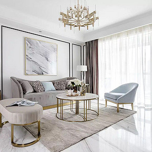 客厅装修效果图-现代轻奢风格装饰
