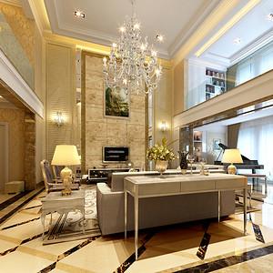 山水御苑欧式新古典风格客厅